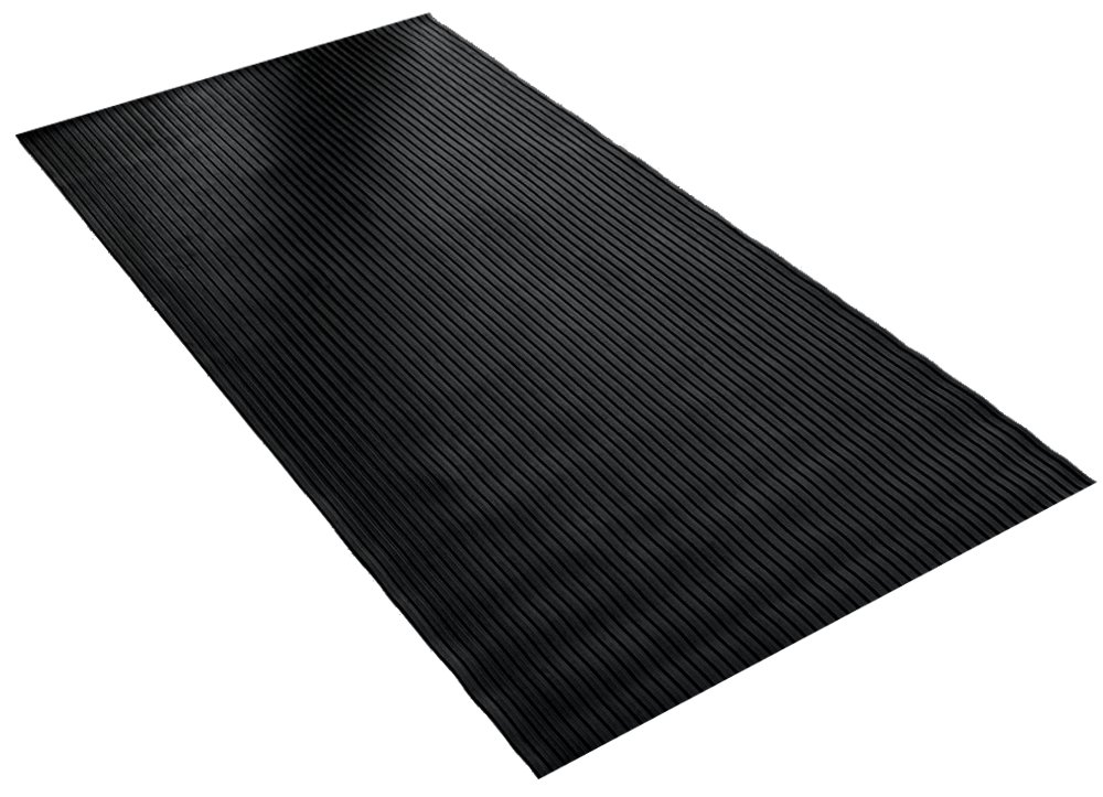 BDK GMT330 Black 8' x 4' FlexTough Mat-8 x 4 ft-Thick Heavy Duty Rubber Floor Protector for Garage, Shop, Parking, Patio, Entrance