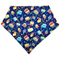 MIAPETTBTB Dog Birthday Bandana Triangle Bibs Scarf Accessories with Hat for Pets Animals - Cake