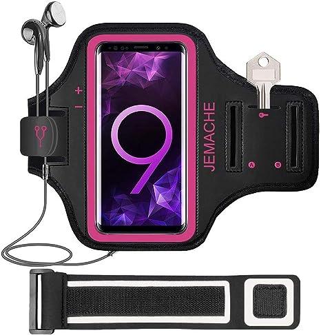 color rosa con tarjetero Brazalete para Samsung Galaxy Note 8//9//10 Plus JEMACHE Galaxy A70//A50//A80