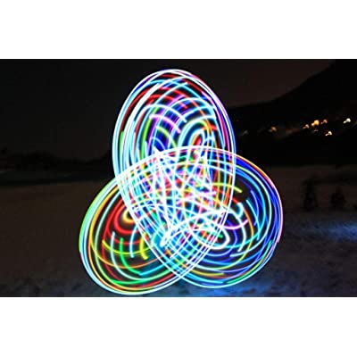 willway 28 inch LED Hoop, 14 LEDs Color Strobing and Changing Hoop for Kids and Adults - Lightweight & Collapsible: Home & Kitchen