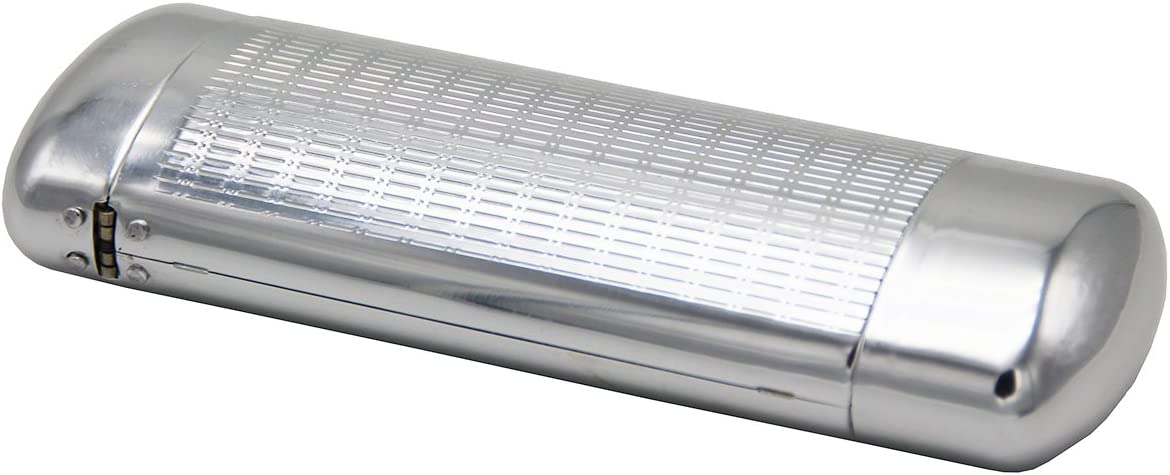 Silver Lozom Aluminum Metal Eyeglass Case,Silver Hard Lined Protection Spectacles