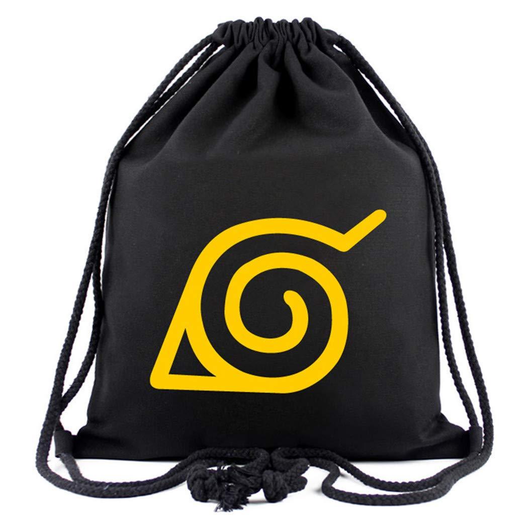 Cosstars Naruto Anime Mochila de Cuerda Bolsas de Gimnasia Deporte Gymsack Sackpack 1