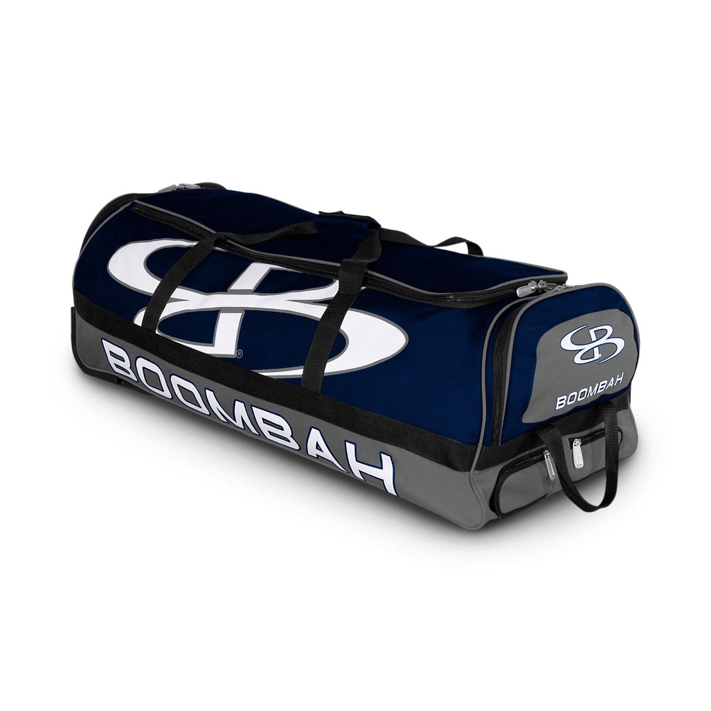 (ブームバー) Boombah Bruteシリーズ キャスター付きバットケース 野球ソフトボール用 35×15×12–1/2インチ 49色展開 4本のバットと用具を収納可能 B01N47M9U3 ネイビー/グレー ネイビー/グレー