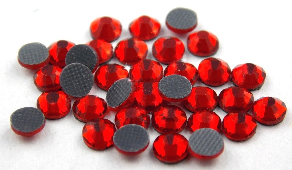STRASS MC Stone collection 500pz SS10 3mm Rosso chiaro light siam hotfix adesivi