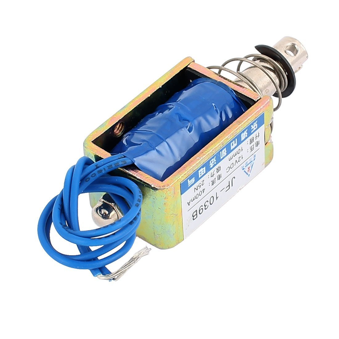 Amazon.com: DealMux JF-1039B DC12V 400mA 10 milímetros 25N PushPull solenóide eletroímã ímã: Home & Kitchen