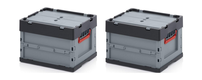 2x profesional–Caja plegable (40x 30x 27con tapa Incluye ZOLLSTOCK * 2unidades Auer