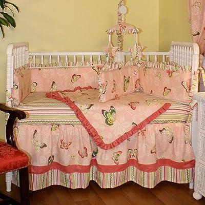 Hoohobbers 4-Piece Crib Bedding, Butterflies from Hoohobbers