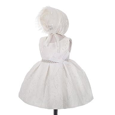 c3474e4aa86c Amazon.com  Dressy Daisy Baby Girls  Beaded Lace Baptism Christening ...