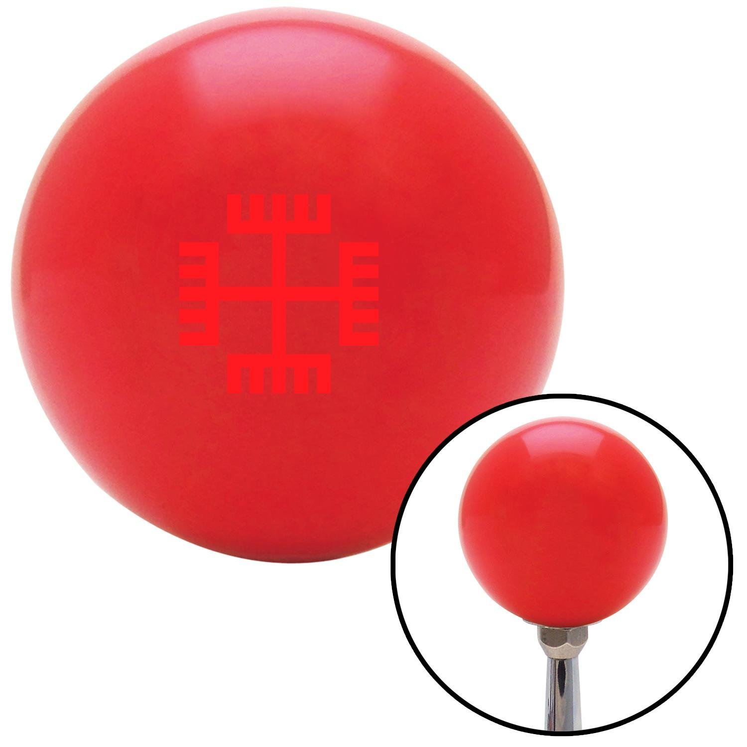 American Shifter 99449 Red Shift Knob with M16 x 1.5 Insert Red Hands of God