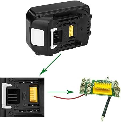 SHGEEN BL1840B Bater/ía de ion de litio de repuesto para Makita 18 V BL1830 BL1840B BL1850 BL1860 BL1860B BL1835 BL1845 LXT-400 194205-3 194204204-5 19 6673-6 con indicador de carga LED.