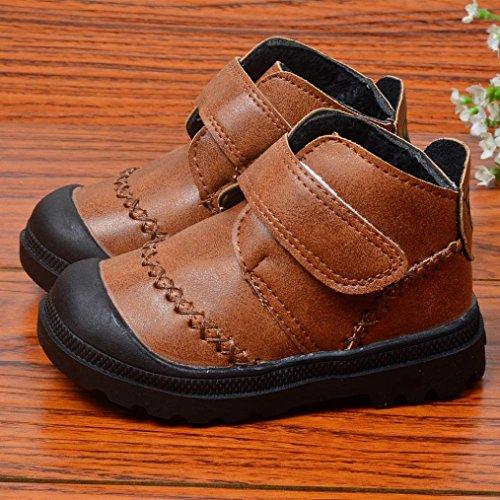 35871f91 ... Tefamore Calzado zapatos de antideslizante de sole suave de deporte de  bebé para niños pequeños Marrón ...