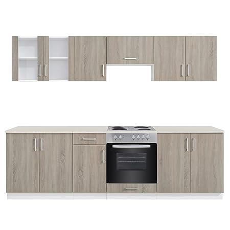 Anself roble Look armario de cocina unidad con integrado ...
