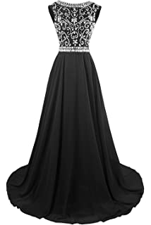KYD Womens Long Prom Dresses 2018 Evening Gowns Bridesmaid Wedding Guest Dress Beaded