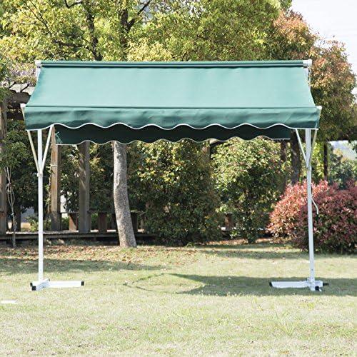 Outsunny Toldo de Doble Cara Verde Acero Poliester 3x3x2,4m ...