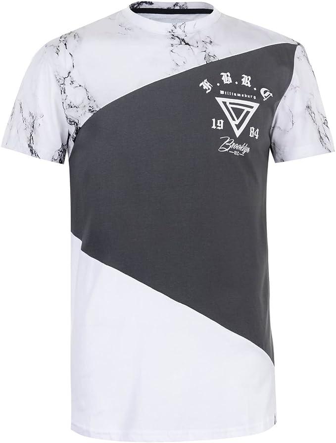 Fabric Hombre Cut and Sew Camiseta Manga Corta Multicolor XS: Amazon.es: Ropa y accesorios