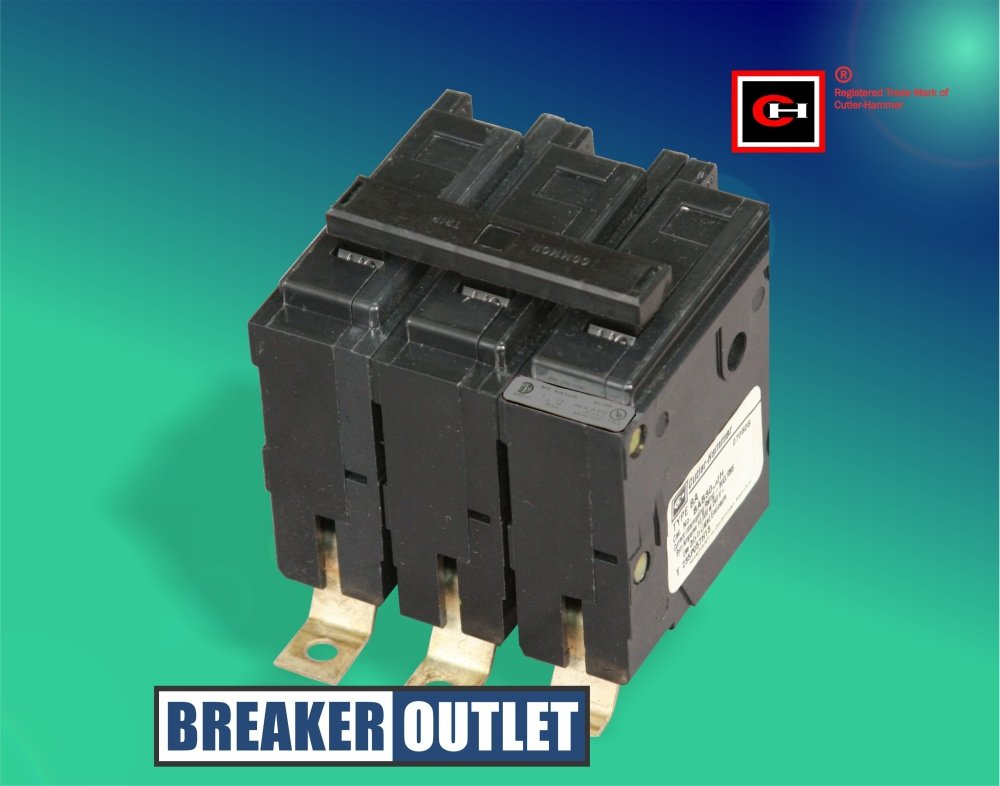 New Cutler-Hammer Eaton BAB3090H Circuit Breaker 3 Pole 90A 240V BAB Bolt On