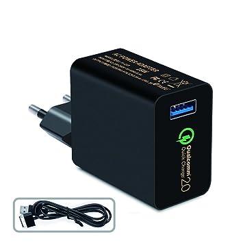 Qualcomm Certificado] TAIFU 18W Carga Rápida 2.0 USB cargador de ...