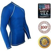 Legend Rash Guards Rash Guard para los Hombres Compresión & Base Layer Shirt