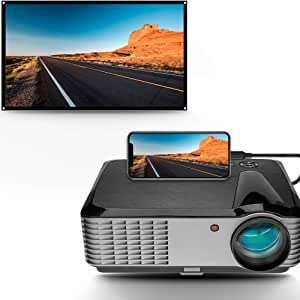 "5000 Lumens Projector,1080P Native LED Projector Full HD, 4K Support, 15000:1 Home Theater Projector 50""-200"" Display, with HDMI USB VGA AV, Compatible TV Box PC Cell Phone Xbox PS4"