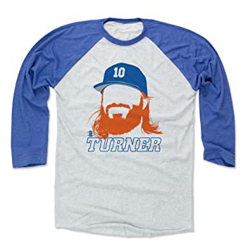 0f4169f5 500 LEVEL Justin Turner Baseball Tee Shirt - Los Angeles Baseball Raglan  Shirt - Justin Turner Silhouette