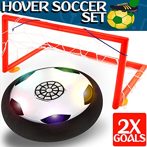 Kids Toys - Hover Soccer Ball Set with 2 Goal, Toy for Boys / Girls Age of 2, 3, 4 -16 Year Old, Top Indoor / Outdoor Children Sports Games Gifts (Toys For Girls Ages 3 And Up)