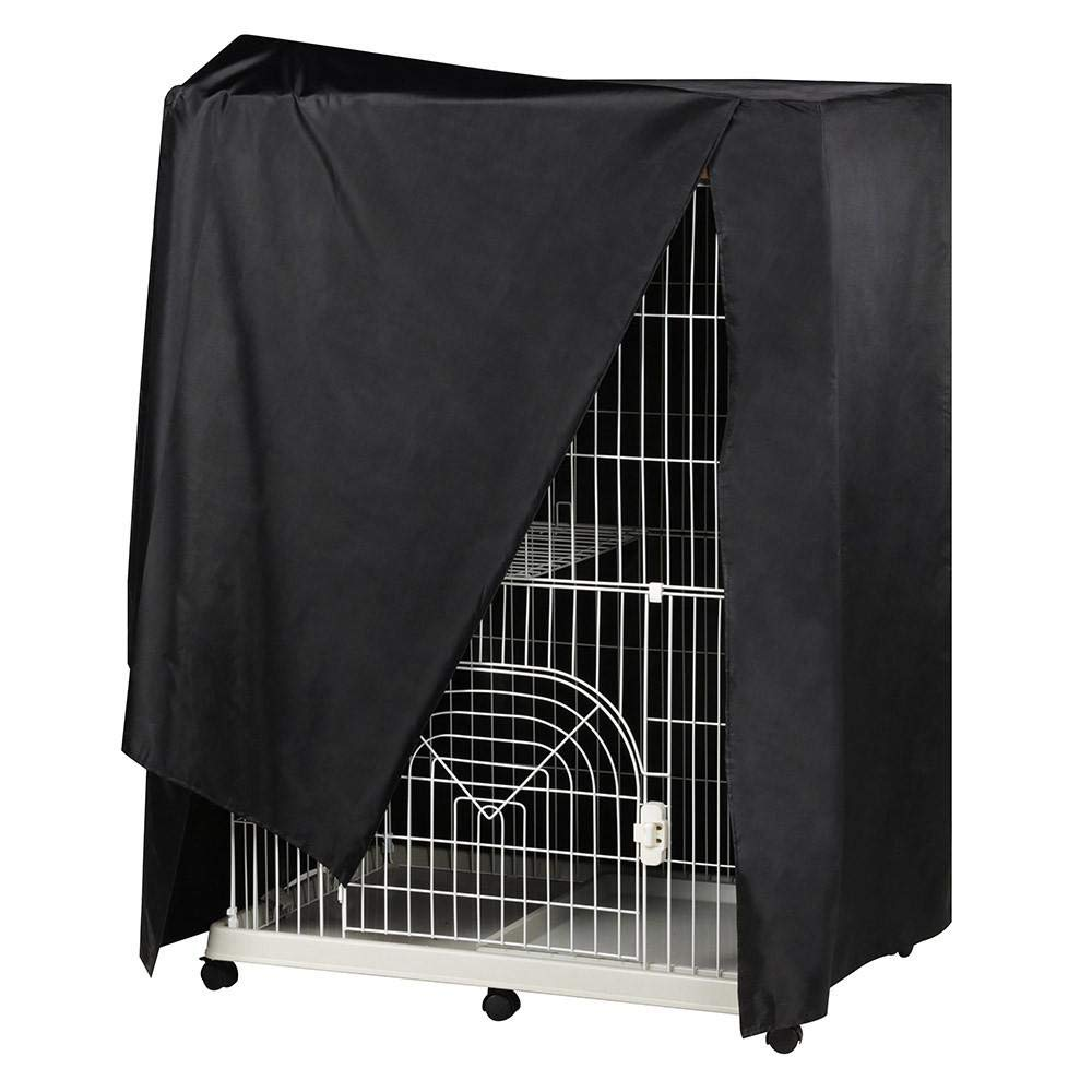 Topeakmart Black Large Bird Cage Good Night Bird Cage Cover Breathable & Washable
