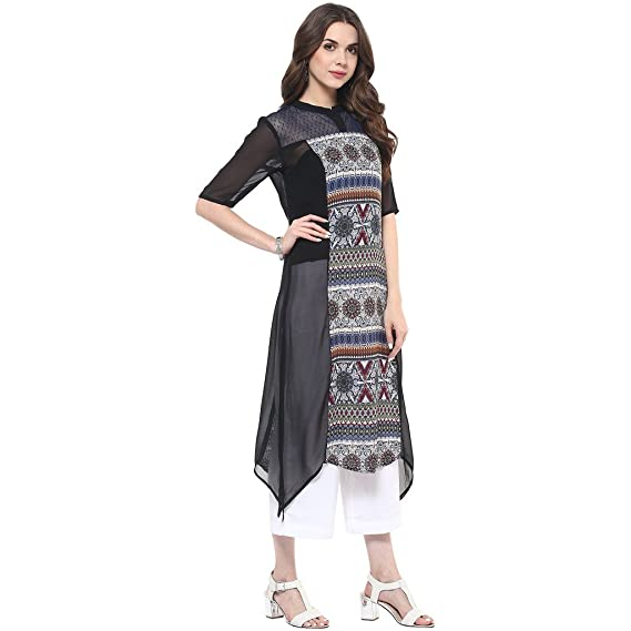 81593766753fd Pannkh Printed Dot Net Women s Kurti  Amazon.in  Clothing   Accessories