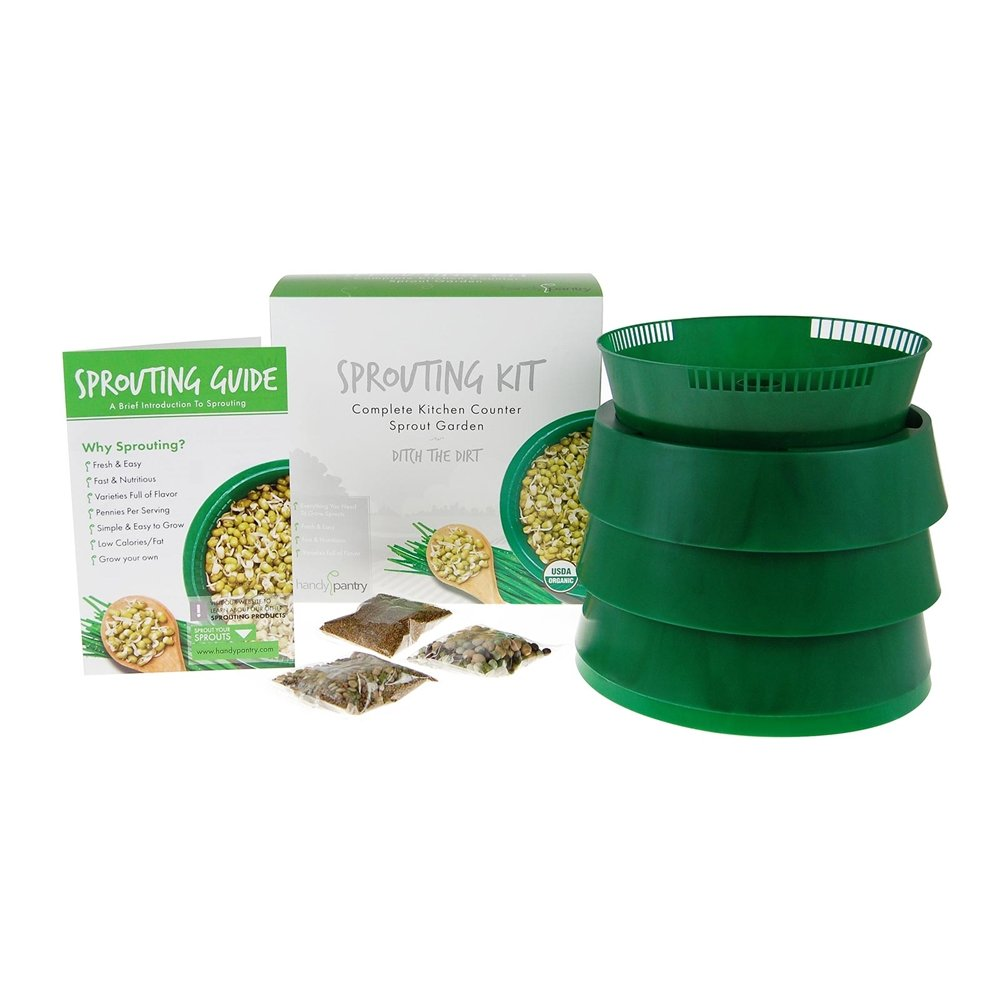 Handy Pantry Sprout Garden 3-tray Sprouter- SG.52 - BPA Free Stackable Sprouting System