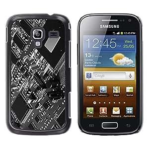 Be Good Phone Accessory // Dura Cáscara cubierta Protectora Caso Carcasa Funda de Protección para Samsung Galaxy Ace 2 I8160 Ace II X S7560M // Computer Technology Chip Art Code Prog