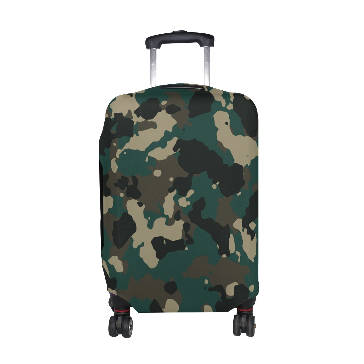 Military Camo Camouflage Pattern Print Travel Luggage Protector Baggage Suitcase Cover Fits 29-32 Inch Luggage