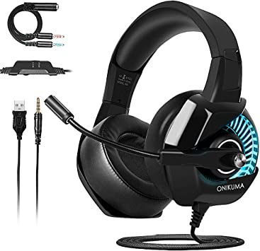 ONIKUMA Cascos Gaming PS4/PC/Xbox One, Auriculares Gaming Headset ...