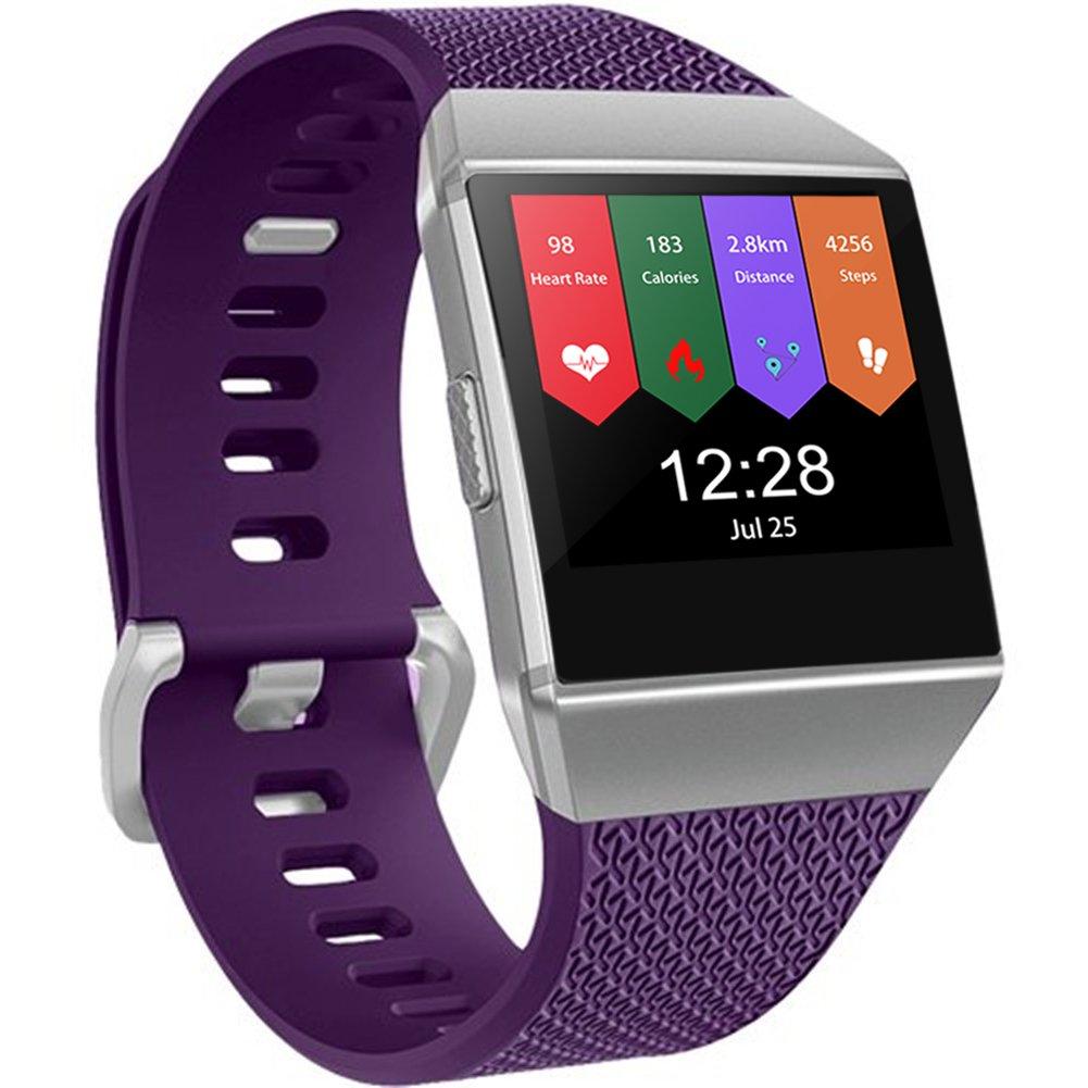 Geak Fitbit ALTAバンドとFitbit ALTA HRバンド、スポーツ用交換アクセサリーリストバンド安全腕時計バックル、S、Lサイズ、ブラックブルーレッドグレーピンクand Teal B075WT4DBD Small|#Plum #Plum Small