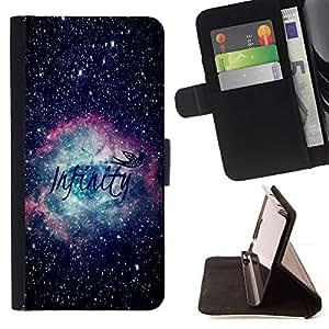 For Apple iPhone 5C Case , Infinity Espacio Awe Inspiring- la tarjeta de Crédito Slots PU Funda de cuero Monedero caso cubierta de piel