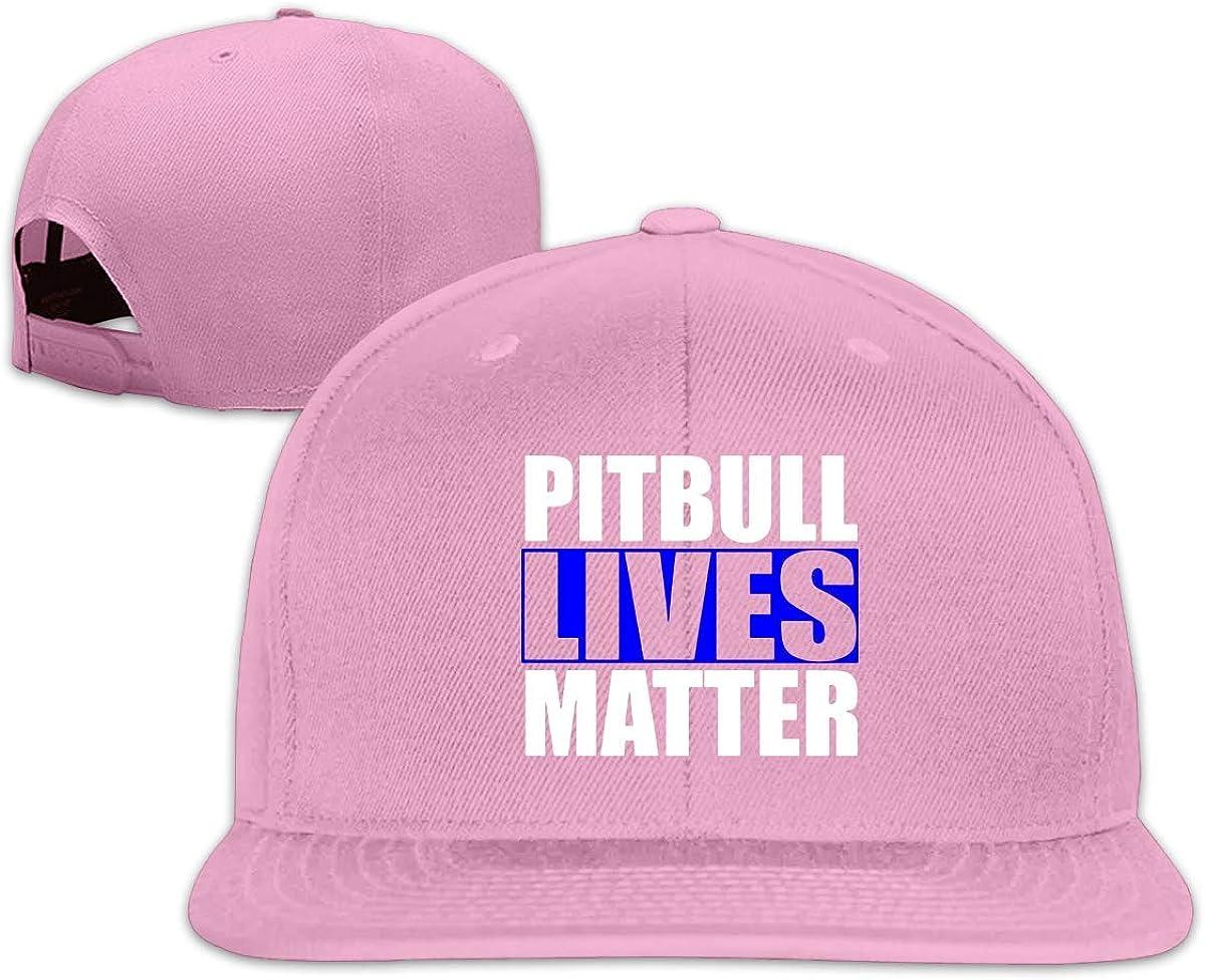 Lsjuee Gorras de Camionero Unisex, Sombreros de ala Plana Ajustables de Hip Hop Vintage Pitbull Lives Matter