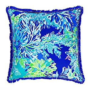 Large Decorative Outdoor Pillows : Amazon.com: Lilly Pulitzer Indoor/Outdoor Decorative Pillow (Large, Wade and Sea): Home & Kitchen