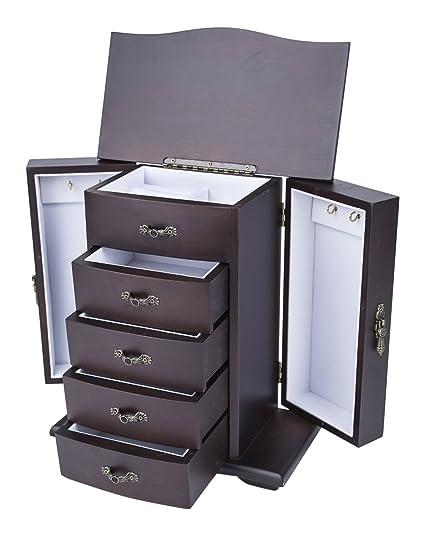 54eb936b2 Amazon.com: Saganizer Cherry Wooden Jewelry Box Organizer: Home & Kitchen