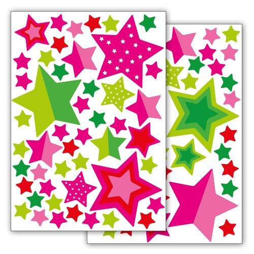 Fahrradaufkleber Sterne Und Sternchen 89 Aufkleber Im Sticker Set