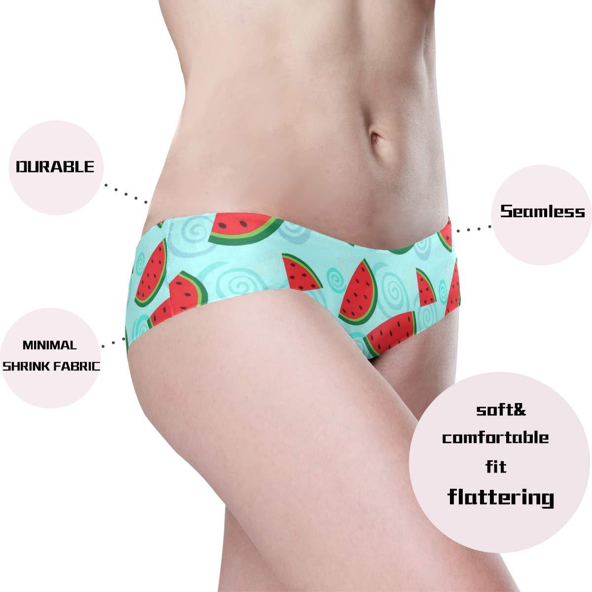 HzuGchi Cute Watermelon Womens Bikini Panties Invisibles Hipster Panty Seamless Underwear
