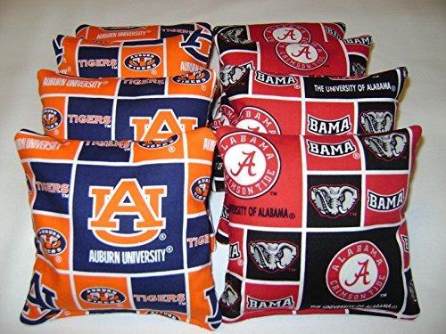 - Alabama Crimson Tide Auburn Tigers Iron Bowl Cornhole Bean Bags 8 Tailgate Toss