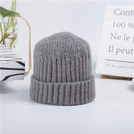mlpnko Sombrero de Hip Hop de cúpula Corta Sombrero frío de Punto ...