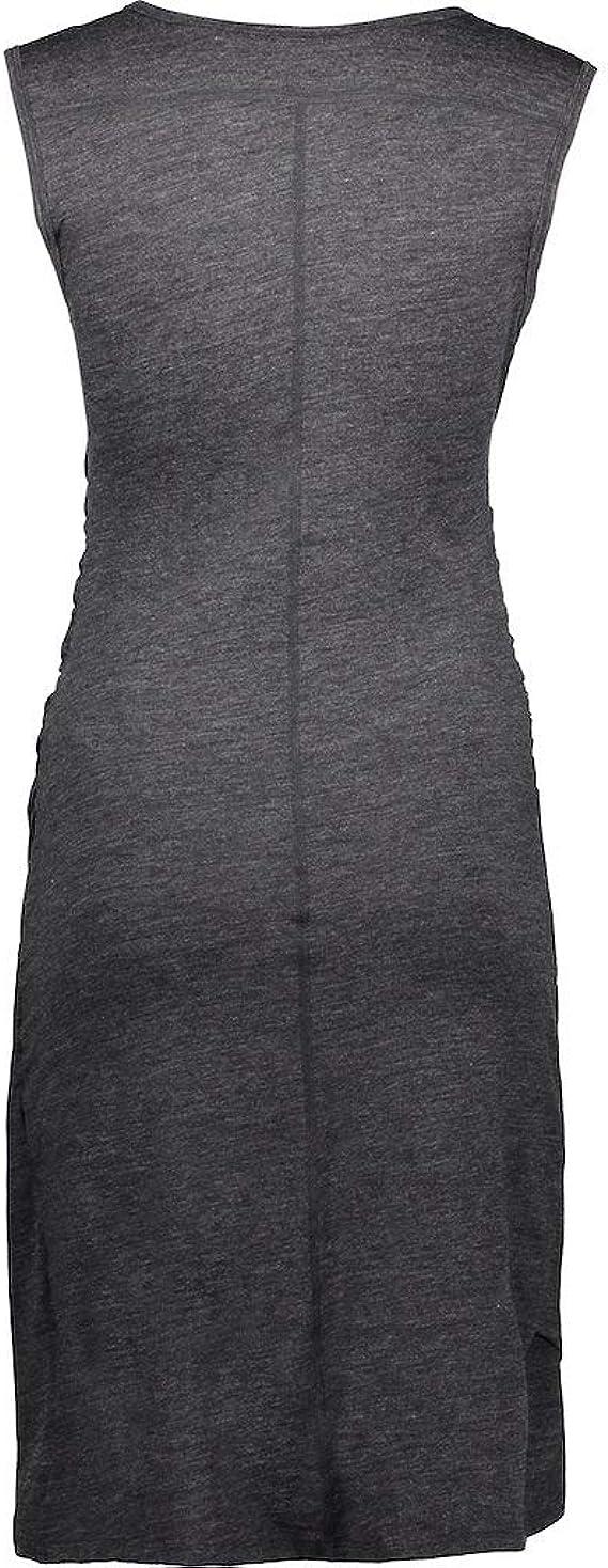MERINO POWER Merinopower Damen Kleid mit Raffung am Bauch und in
