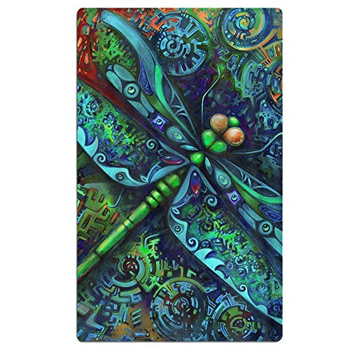 FSKDOM Oversized Jacquard Double Woven Velour Beach Towel Indian Mandala Dragonfly Insects Animal 40'' X 70'' - Thick Plush Luxurious Velour Pile - 100% Pure Cotton by FSKDOM
