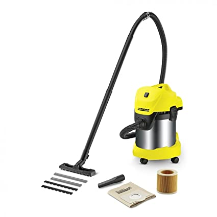 Karcher Wd 3 Premium Wet And Dry Vacuum Cleaner -Yellow & Black