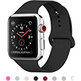 HILIMNY For Apple Watch Strap 38MM 40MM 42MM 44MM, Soft Silicone iwatch Strap, Replacement for Apple Watch Sport, Series 4, Series 3, Series 2, Series 1, Nike+, Edition, Hermes
