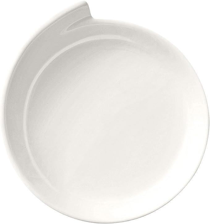 Villeroy & Boch NewWave Plato de Presentación, 30 cm, Porcelana Premium, Blanco, 31.5x31.5x9 cm