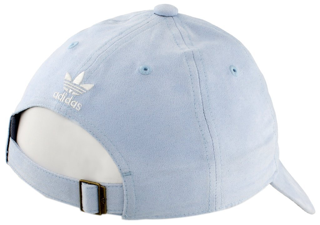 adidas Women's Originals Relaxed Plus Adjustable Strapback Cap, Aero Blue Suede/White, One Size by adidas (Image #5)