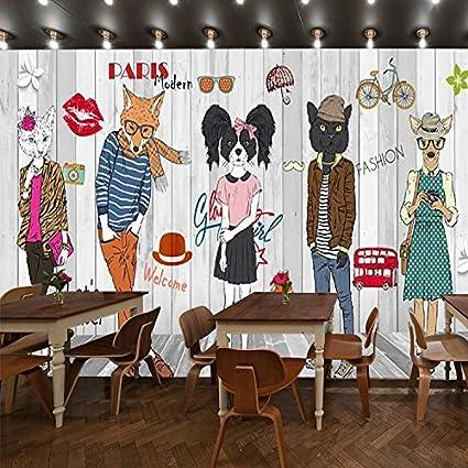 yosot board effect cartoon clothing store background wallpaper retro