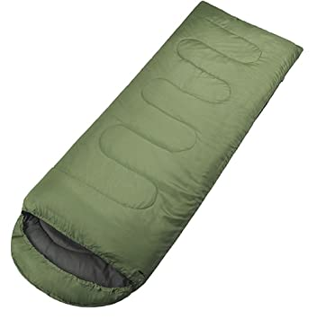 Sleeping Bag, IFLYIING Outdoor Ultra-Compactable Lightweight Camping Envelope Sleeping Bags with Compression Bag