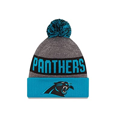 New Era Men s Carolina Panthers 2016 Sideline Sport Knit Hat Heather Grey  Size One Size 73fc624f601