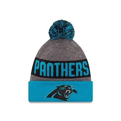 9044e7f4613 New Era Men s Carolina Panthers 2016 Sideline Sport Knit Hat Heather Grey  Size One Size